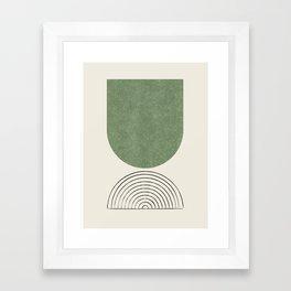 Arch balance green 2 Framed Art Print