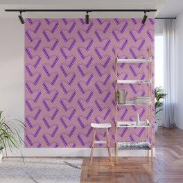 Minimal Pink and Purple Pattern Wall Mural