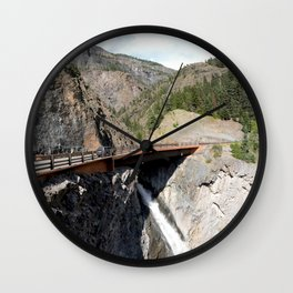 Bear Creek Falls in the Uncompahgre Gorge - Vertical Panorama No. 2 of 2 Wall Clock