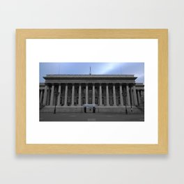 Paris architecture black and white with color Framed Art Print