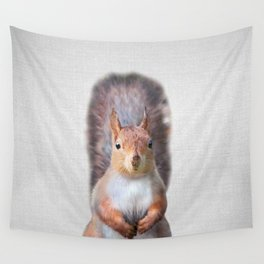 Squirrel - Colorful Wall Tapestry