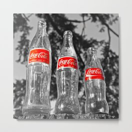 Classic soda bottles Metal Print