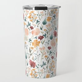 Deep Florals Travel Mug
