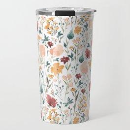 Deep Florals Travel Mug