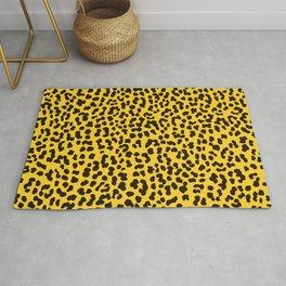 Yellow Cheetah Animal Print Rug