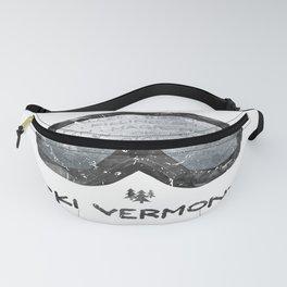 Ski Vermont Ski Goggles — Black with VT Mountains Fanny Pack