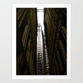 NY Downtown Art Print