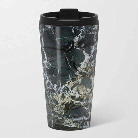 BLACK MARBLE Metal Travel Mug