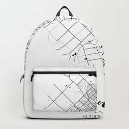 Guelph Area City Map, Guelph Circle City Maps Print, Guelph Black Water City Maps Backpack