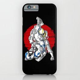 Astronaut Jiu Jitsu Fighters iPhone Case