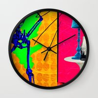 coke Wall Clocks featuring Coke by Alec Goss