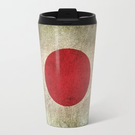 Old and Worn Distressed Vintage Flag of Japan Travel Mug
