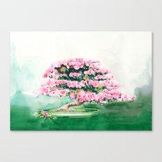 Pink Bonsai Canvas Print