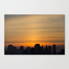 skyline brushstrokes Canvas Print