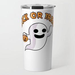Trick or Treat Spooky Halloween Ghost Jack O Lantern Travel Mug