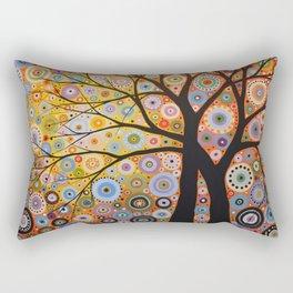 Abstract Art Landscape Original Painting ... Twin Desires Rectangular Pillow