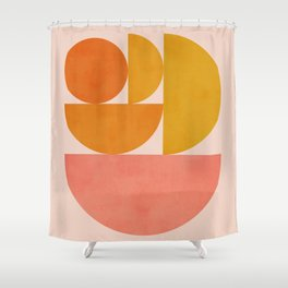 Abstraction_Summer_Color_Minimalism_001 Shower Curtain