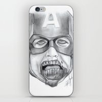 avenger iPhone & iPod Skins featuring Zombie Avenger by THINGS I DOODLE