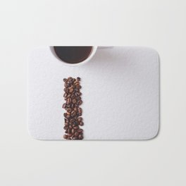 COFFEE - BEANS - CUP - PHOTOGRAPHY Bath Mat