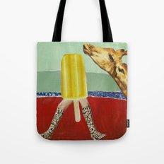 Ferdinand the Giraffe cools down Tote Bag