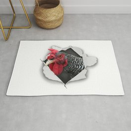 Angry Chicken Rug