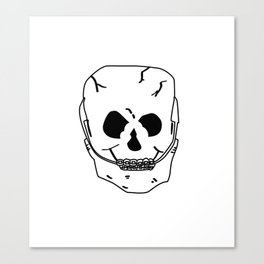 Skull with braces Canvas Print
