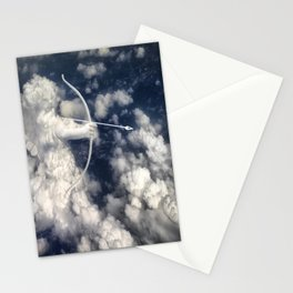 illustrations cupid cloud sky angel love Stationery Cards