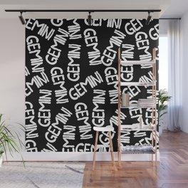 Gemini Pattern Dark Wall Mural