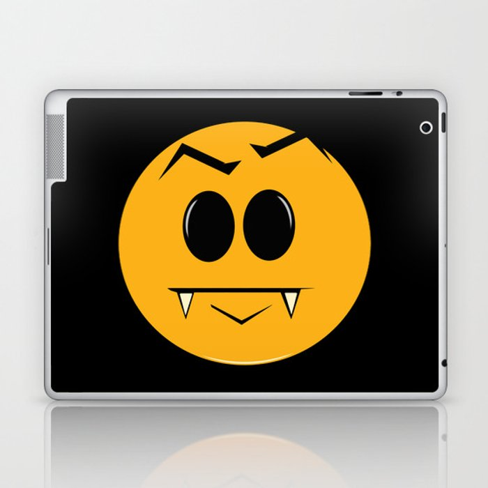 Vampire Smilie Laptop & iPad Skin