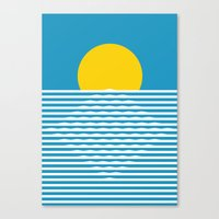 sunrise Canvas Prints featuring Sunrise by FLATOWL