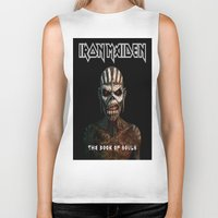 iron maiden Biker Tanks featuring Iron Maiden-Book Of Souls by darma1982
