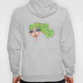 Celery Girl on white Hoody