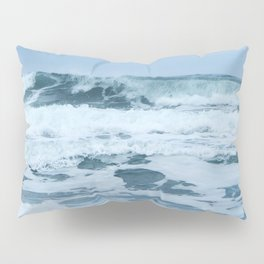 Crashing Waves in Spring Pillow Sham