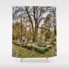 Highgate Cemetery London Shower Curtain