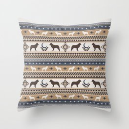 Boho dogs | Australian shepherd tan Throw Pillow