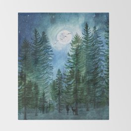 Silent Forest Throw Blanket
