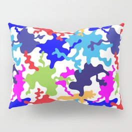 Urban colorful abstract pattern with hand drawn wave shapes. Seamless backdrop Pillow Sham