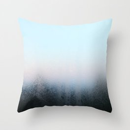 Misty Panes Throw Pillow