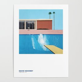 David Hockney Art Exhibition Poster