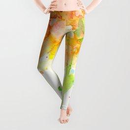 Rainbow Watercolor Pattern Texture Leggings