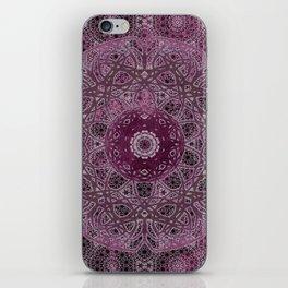Vintage Merlot Lace Mandala iPhone Skin