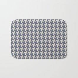 Modern Grey Pin wheel Bath Mat