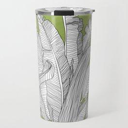 Banana Leaves Illustration - Green Travel Mug
