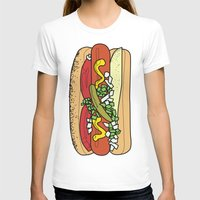 hot dog T-shirts featuring HOT DOG by RUMOKO x Vintage Cheddar