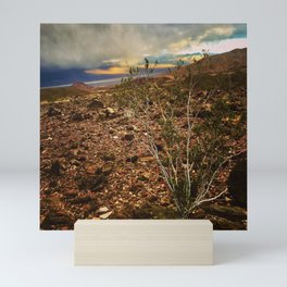 Storm Moving In Over Death Valley Mini Art Print