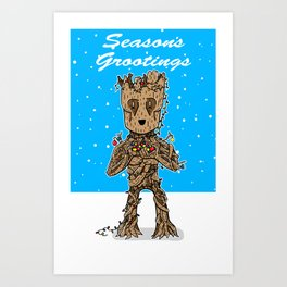 Season's Grootings Art Print