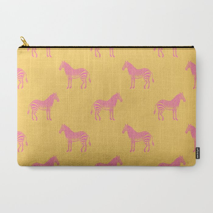 Zebra_Pattern_in_Pink_and_Yellow_CarryAll_Pouch_by_apricotbirch__Large_125_x_85