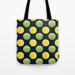 Watercolor Lemon Lime Pattern Tote Bag