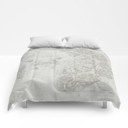 Ghostly alpaca and mandala Comforters