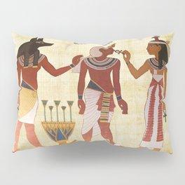 egyptian design man woman priest Pillow Sham